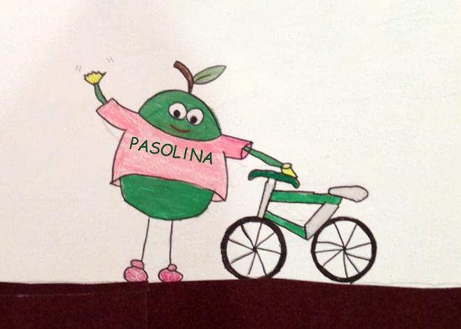 PASOLINA, Mascotte GIRO d'ITALIA, 4a tappa Giovinazzo-Bari.