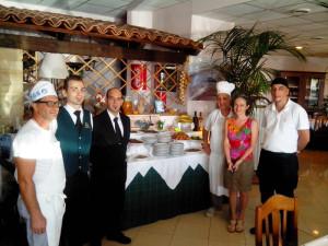 Team ristorante  con Sig.ra Marcella Forastieri