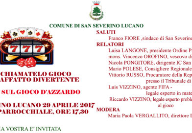 A San Severino Lucano (PZ), un forum sul gioco d'azzardo