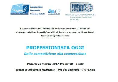 """A Potenza: """"Professionista Oggi, dalla Competizione alla Cooperazione"""""""