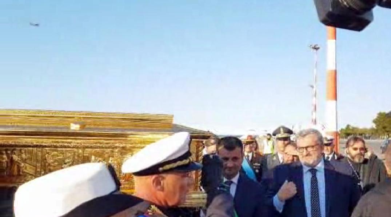 Reliquia di San Nicola rientrata a Bari dalla Russia
