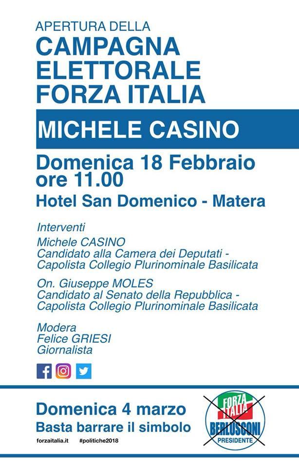 A matera apertura della campagna elettorale di forza for Forza italia deputati