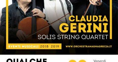 """""""Qualche estate fa"""", all'Auditorium Gervasio di Matera, Claudia Gerini nell'omaggio a Franco Califano"""