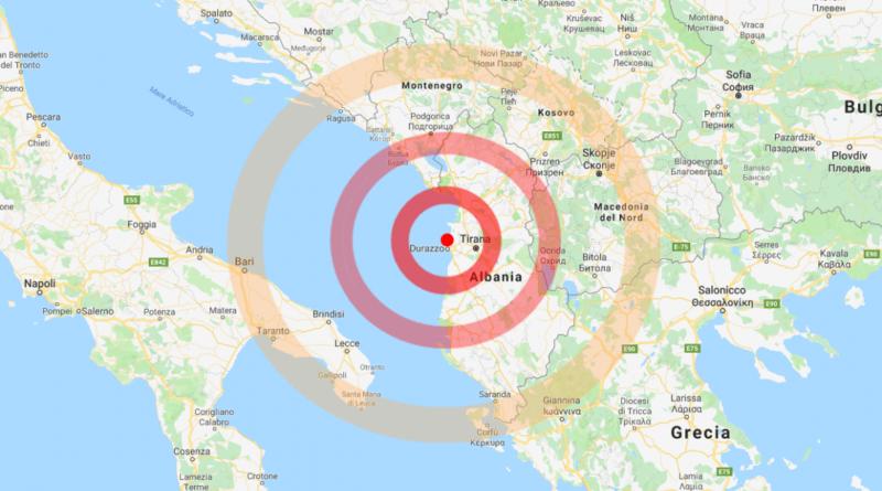 Sisma in Albania: scossa avvertita in Puglia e Basilicata