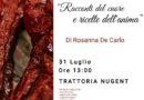 Nella Trattoria Nugent di Irsina presentazione del libro Racconti del cuore e ricette dell'anima di Rosanna De Carlo